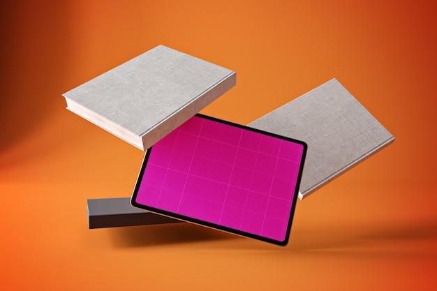 Maquete do livro tablet pro