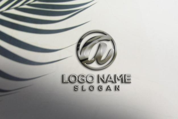 Maquete do logotipo 3d da parede do escritório