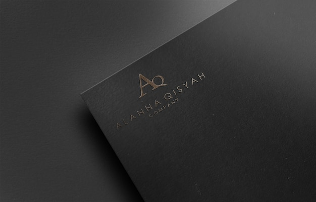 Maquete do logotipo 3d em papel