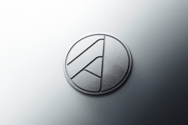 Maquete do logotipo 3d metal