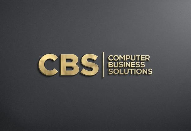 Maquete do logotipo 3d na parede