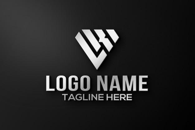 Maquete do logotipo 3d