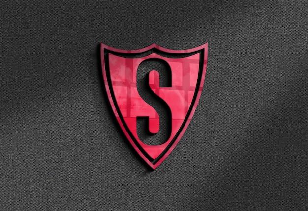 Maquete do logotipo colorido na parede