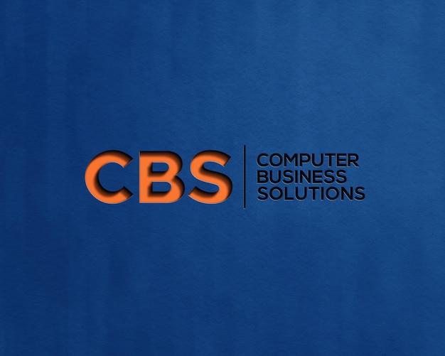 Maquete do logotipo com efeito de relevo
