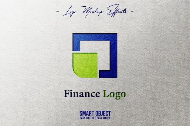 Maquete do logotipo com o logotipo da ecofood