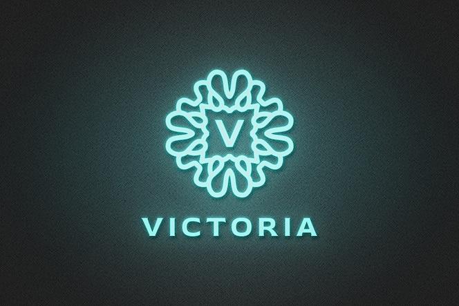 Maquete do logotipo da blue neon