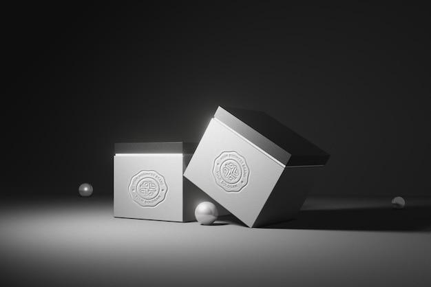 Maquete do logotipo da caixa de luxo