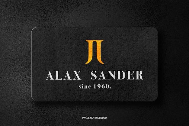 Maquete do logotipo da folha de ouro do cartão de visita