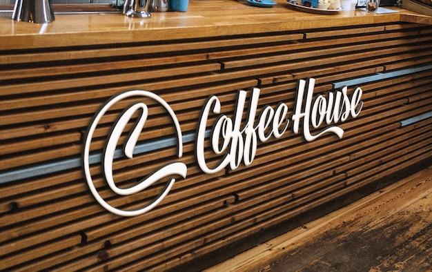 Maquete do logotipo da marca de café e padaria