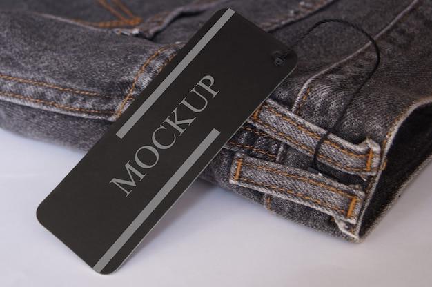 Maquete do logotipo da marca hang para jeans