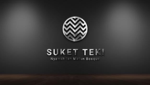Maquete do logotipo da parede 3d moderna