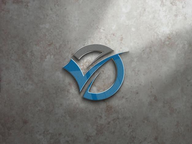 Maquete do logotipo da parede do escritório