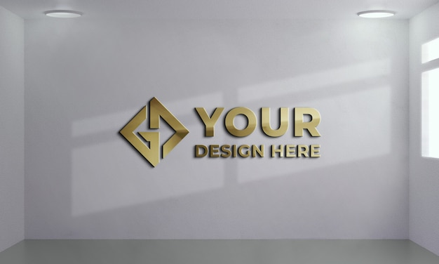 Maquete do logotipo da parede