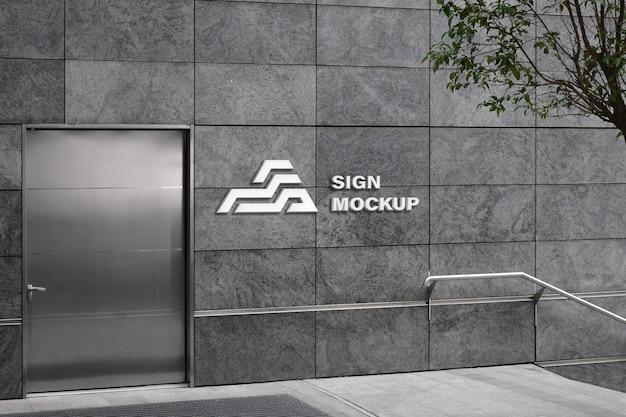 Maquete do logotipo da parede