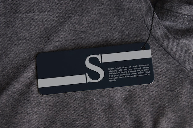 Maquete do logotipo da tag pendurada para camiseta