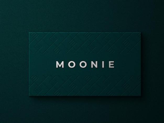 Maquete do logotipo de luxo com textura dourada