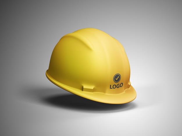 Maquete do logotipo do capacete de construção