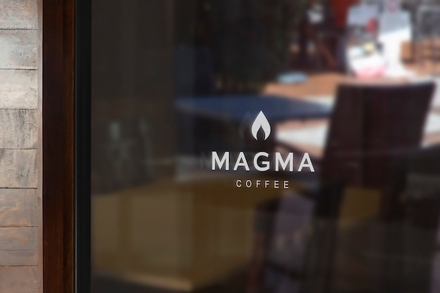 Maquete do logotipo do coffe window sign