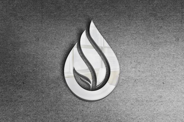 Maquete do logotipo do fogo branco