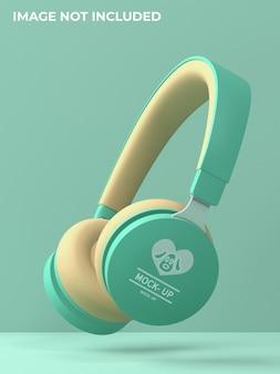 Maquete do logotipo do fone de ouvido