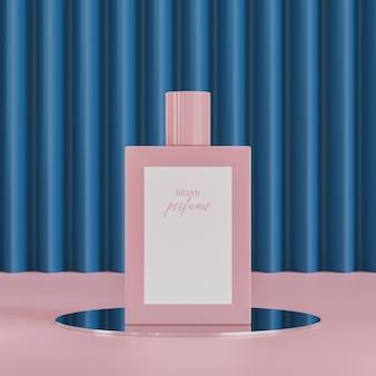 Maquete do logotipo do frasco de perfume abstrato