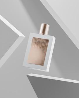 Maquete do logotipo do frasco de perfume