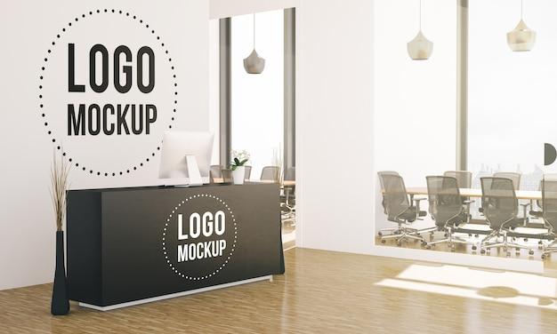 Maquete do logotipo do hall do escritório