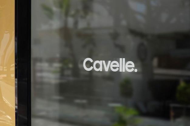 Maquete do logotipo do letreiro de janela
