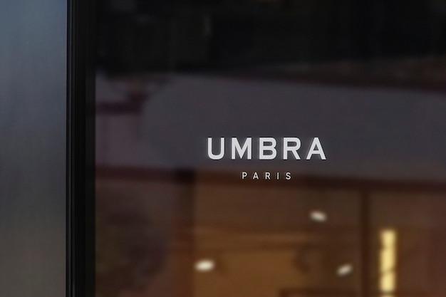 Maquete do logotipo do letreiro de luxo preto