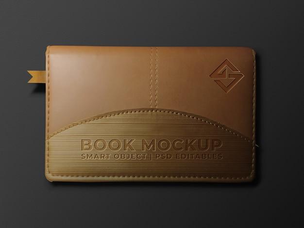 Maquete do logotipo do livro Psd Premium