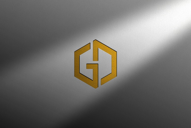 Maquete do logotipo do software de design gráfico Psd Premium