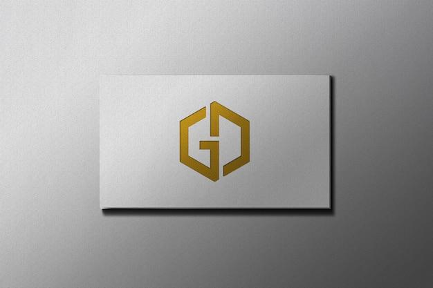 Maquete do logotipo do software de design gráfico