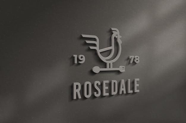 Maquete do logotipo e sinal 3d