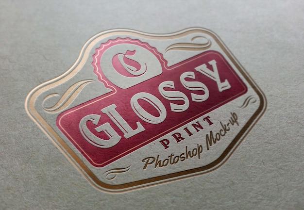 Maquete do logotipo fotorrealista