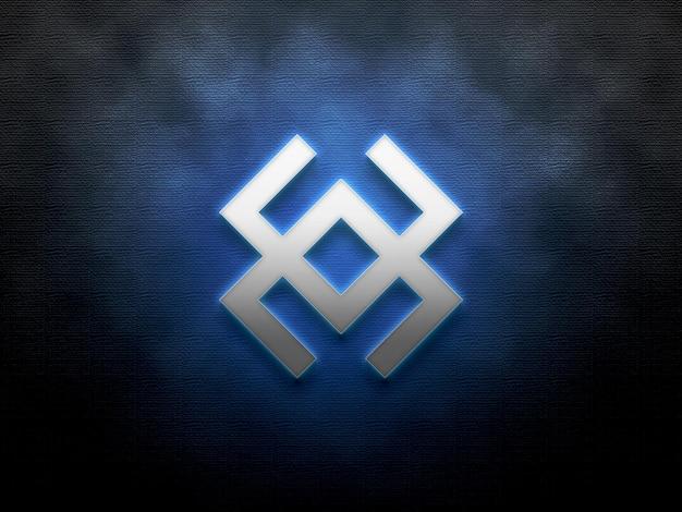 Maquete do logotipo gradiente 3d no fundo da textura