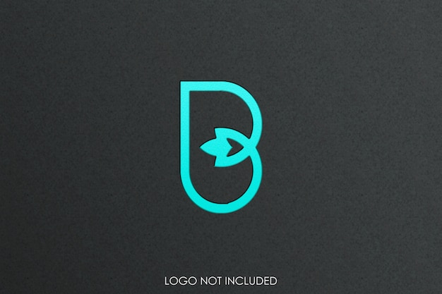 Maquete do logotipo gravar estilo