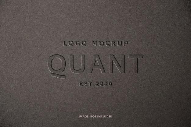 Maquete do logotipo pressionado