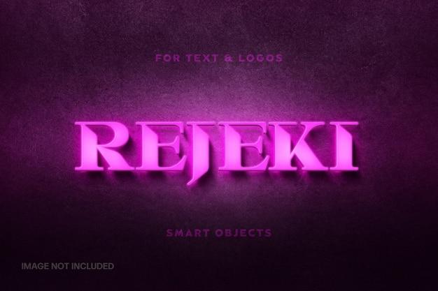 Maquete do logotipo rosa neon