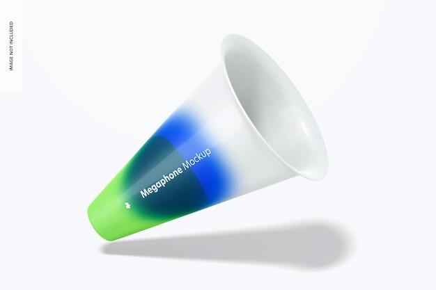 Maquete do megafone, caindo