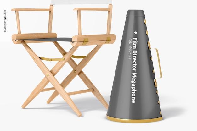 Maquete do megafone do diretor de cinema