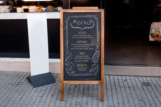 Maquete do menu do restaurante