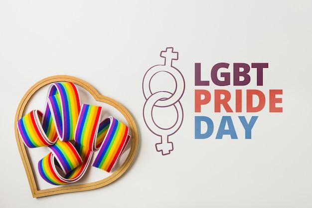 Maquete do orgulho gay com fita
