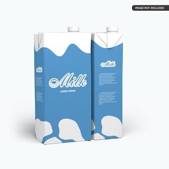 Maquete do pacote da caixa de leite