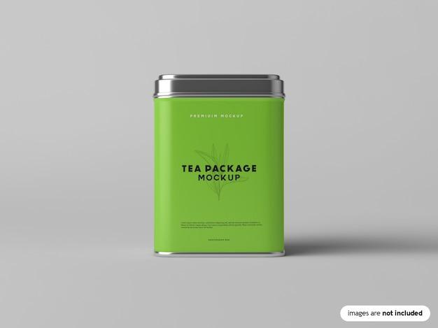 Maquete do pacote de chá