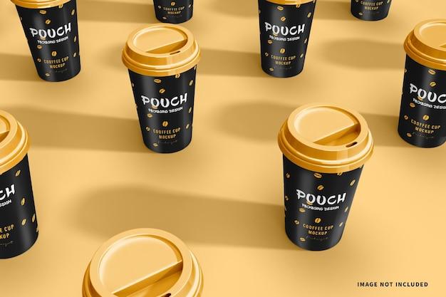 Maquete do padrão da xícara de café