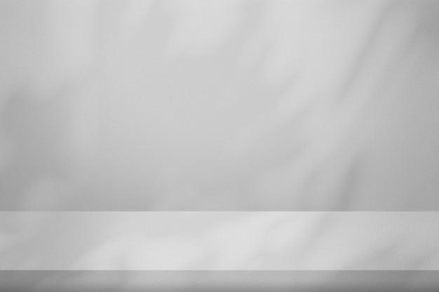 Maquete do pano de fundo do produto cinza claro psd com sombra