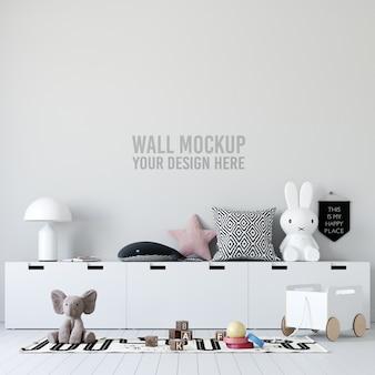 Maquete do papel de parede do quarto infantil interior