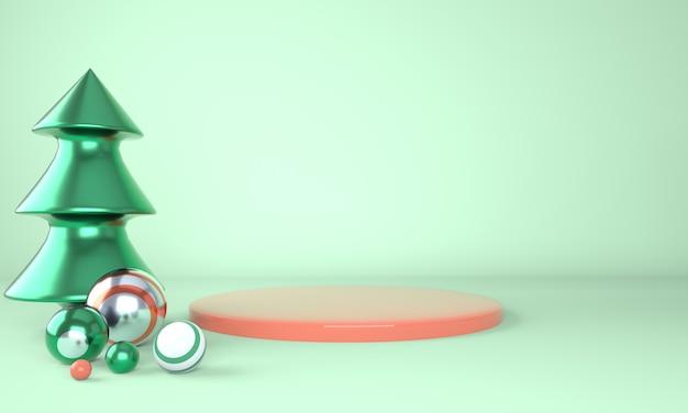 Maquete do pódio para renderização em 3d de marca