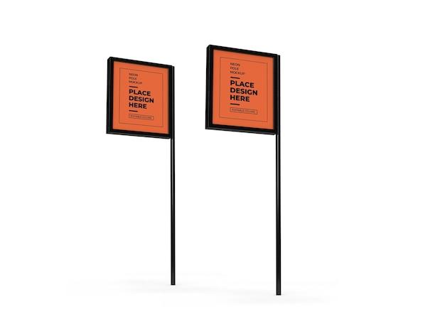 Maquete do pole sign