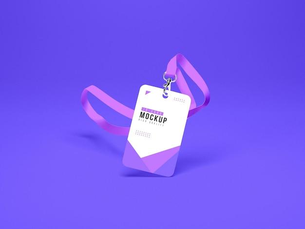 Maquete do porta-cartões de identificação vertical